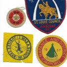 4 BOY SCOUTS Crest patches in cloth JAMBOREE 1957