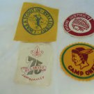 4 BOY SCOUTS Crest patches in cloth JAMBOREE 1960