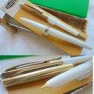 WALKER SET 2 PENS White fountain and ball pens 1960s Original