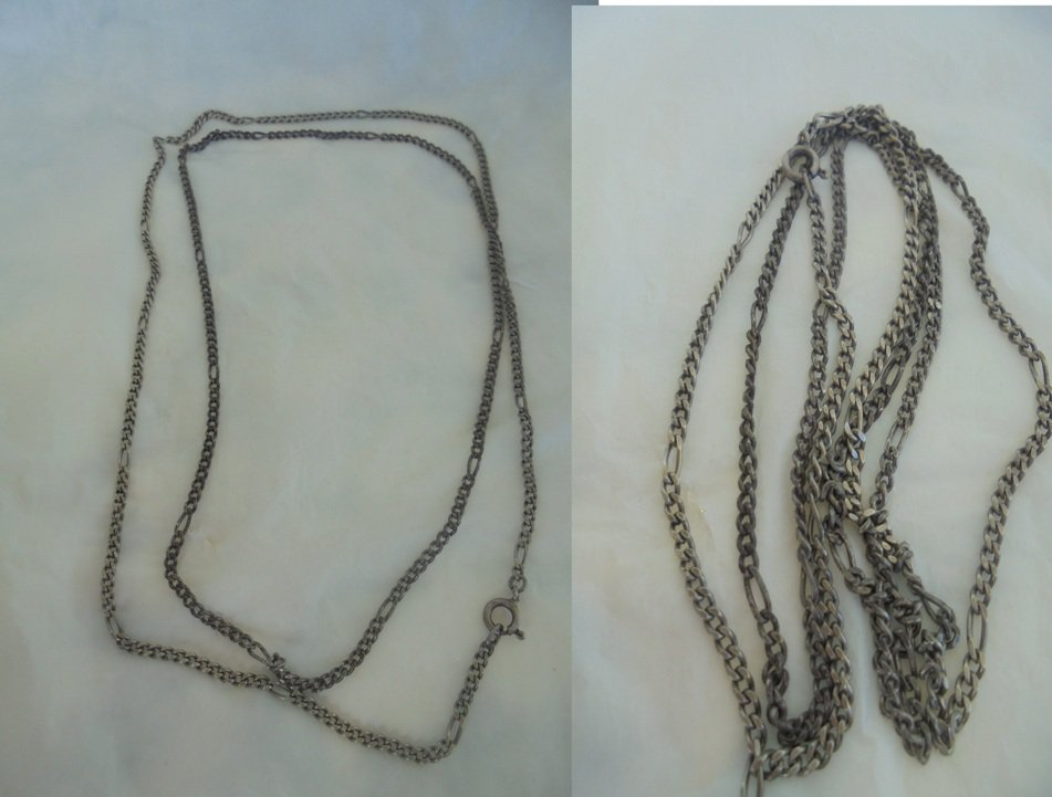 Long NECKLACE CHAIN in SILVER 800 cm 90 weights 17 grams