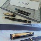 PARKER RIALTO fountain pen lacquè black and gold Original in gift box with garantee
