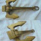 Anchor in brass paper weight Original 1990s