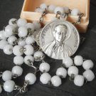 Praying ROSARY od Saint PETER CHANEL in Murano glass Italy 1960s