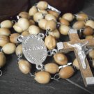Praying Rosary of LOURDES 150th ANNIVERSARY beads in wood Original from 2008