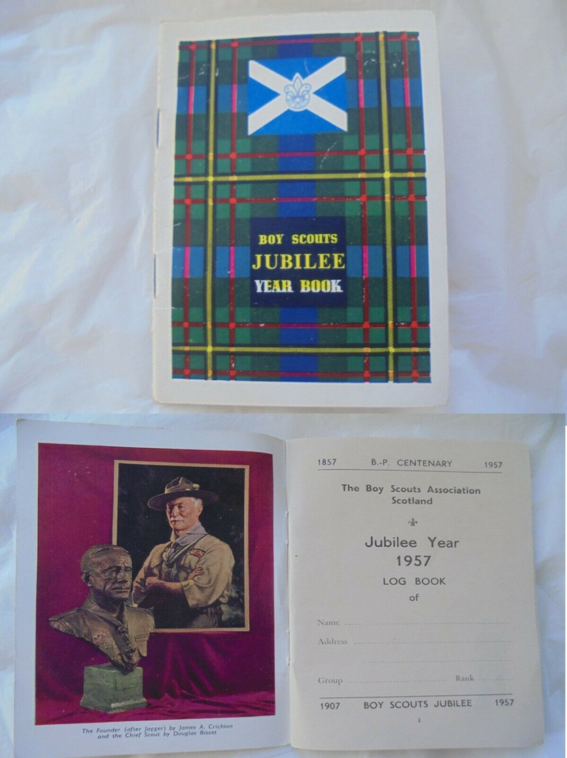 BOY SCOUTS JUBILEE Year Book 1957 Scotland Original
