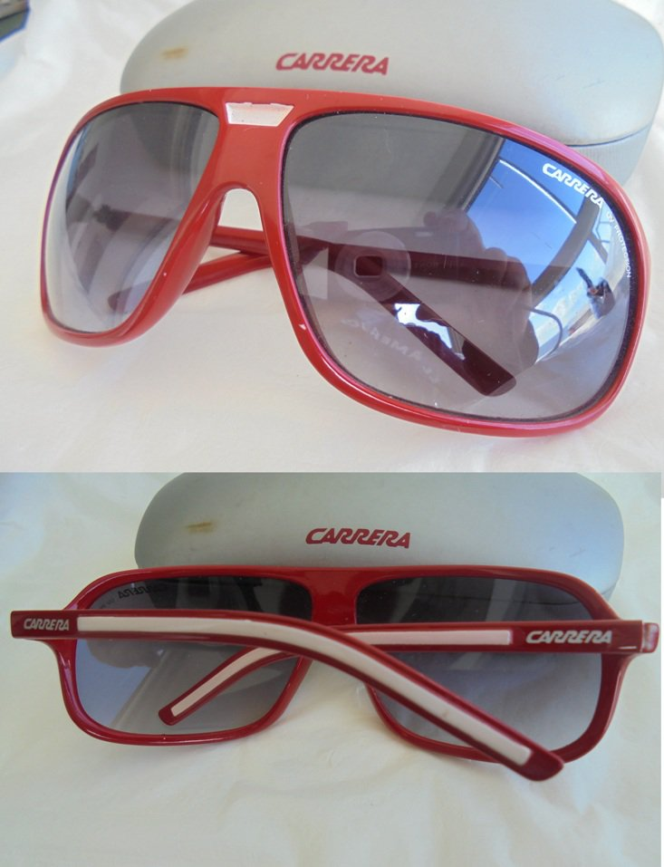 CARRERA SUNGLASSES Original sun glasses in red color in gift box