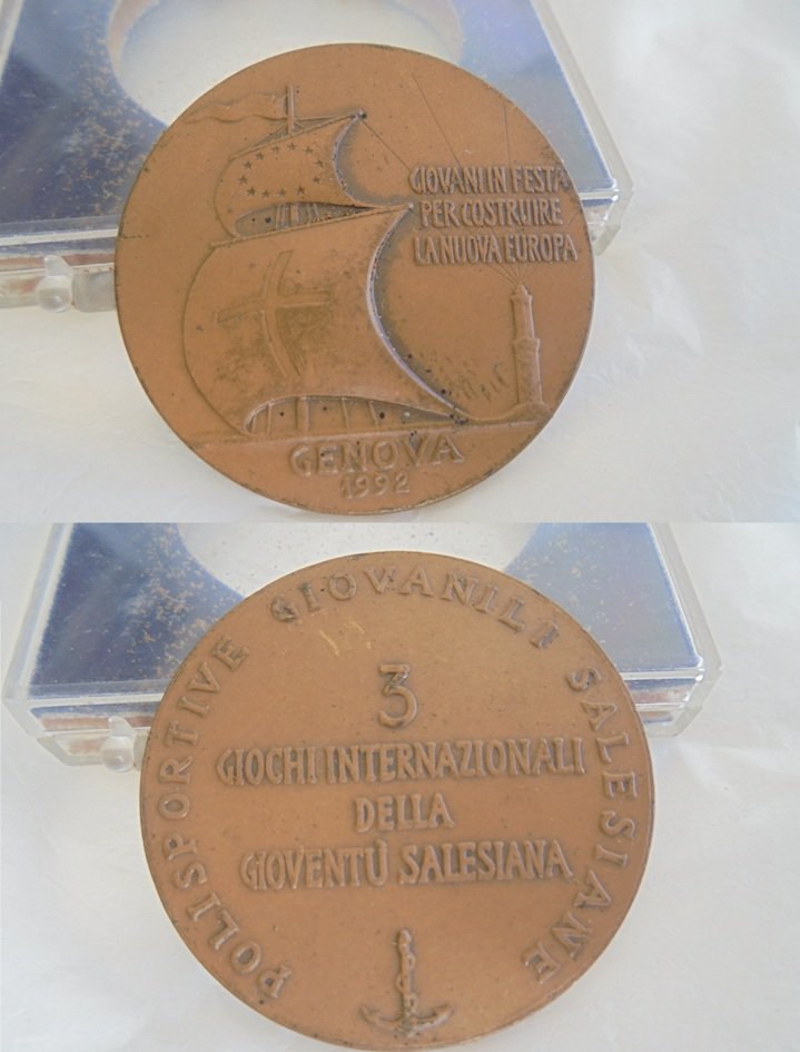 BRONZE MEDAL SALESIAN youth Games of the International day 1992