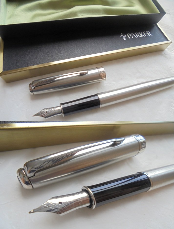 PARKER SONNET fountain pen in steel In gift box