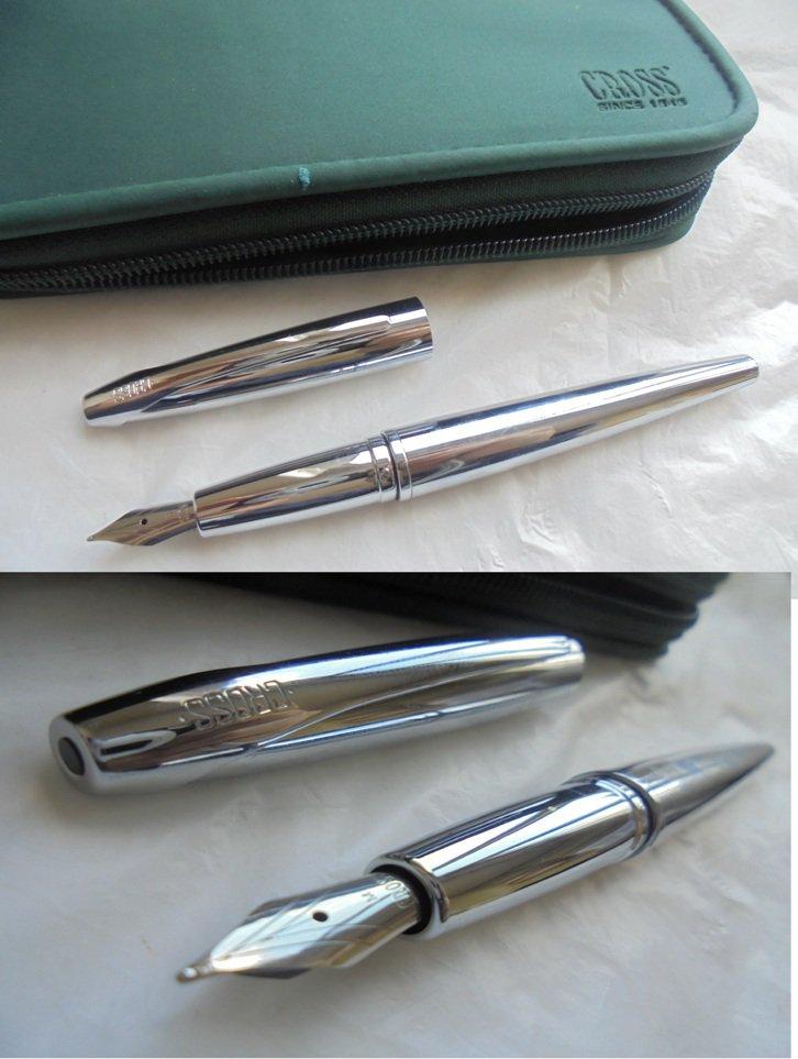 CROSS ATX pure chrome fountain pen In gift pochette
