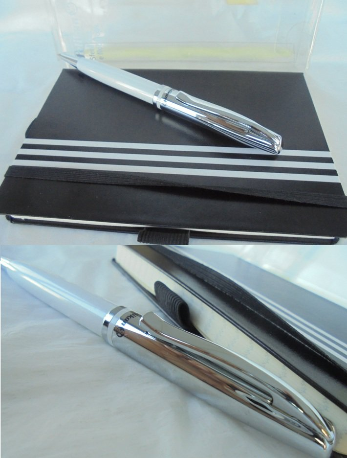 PELIKAN JAZZ Gift SET White ball pen with notebook New in box