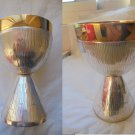 Religious CHALICE in SILVER plated and GOLD plated chiseled Original