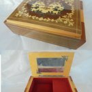 CARILLON music box for jewels or tabacco in arabesque wood Made in Italy 1960s