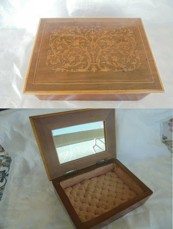 JEWELLERY BOX in arabesque WOOD Made in Italy Amalfi Original 1940s