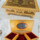 Big 2 levels JEWELLERY BOX in arabesque wood Made in Italy Amalfi Original 1960s