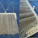 Antique purse bag in SILVER 800 Made in Italy Liberty design Original 1930s