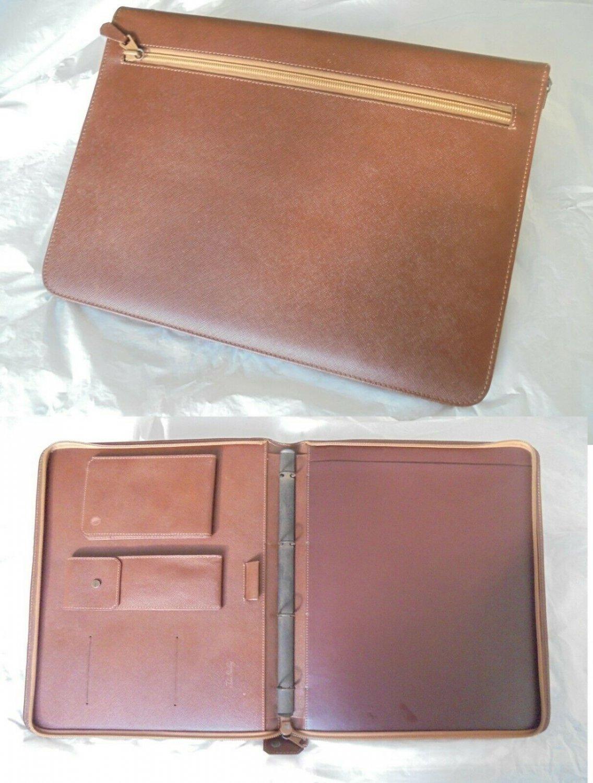 JOHN STERLING documents business leather pochette bag