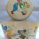 CAFFAREL CANDY tin box with cartoon characters Original 1950s
