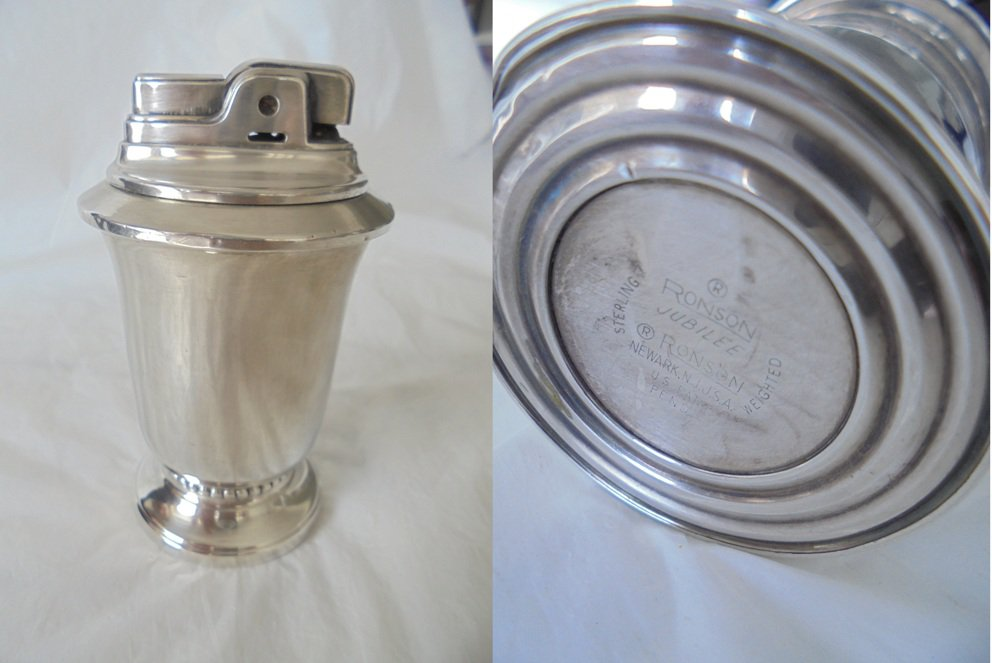 RONSON JUBILEE in silver sterling 925 Made in USA original table lighter 1960s working