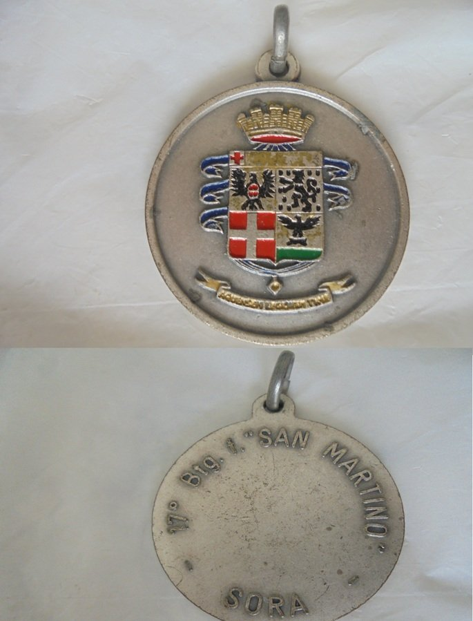 ITALIAN ARMY military MEDAL 17th division San Martino of Sora 1970s