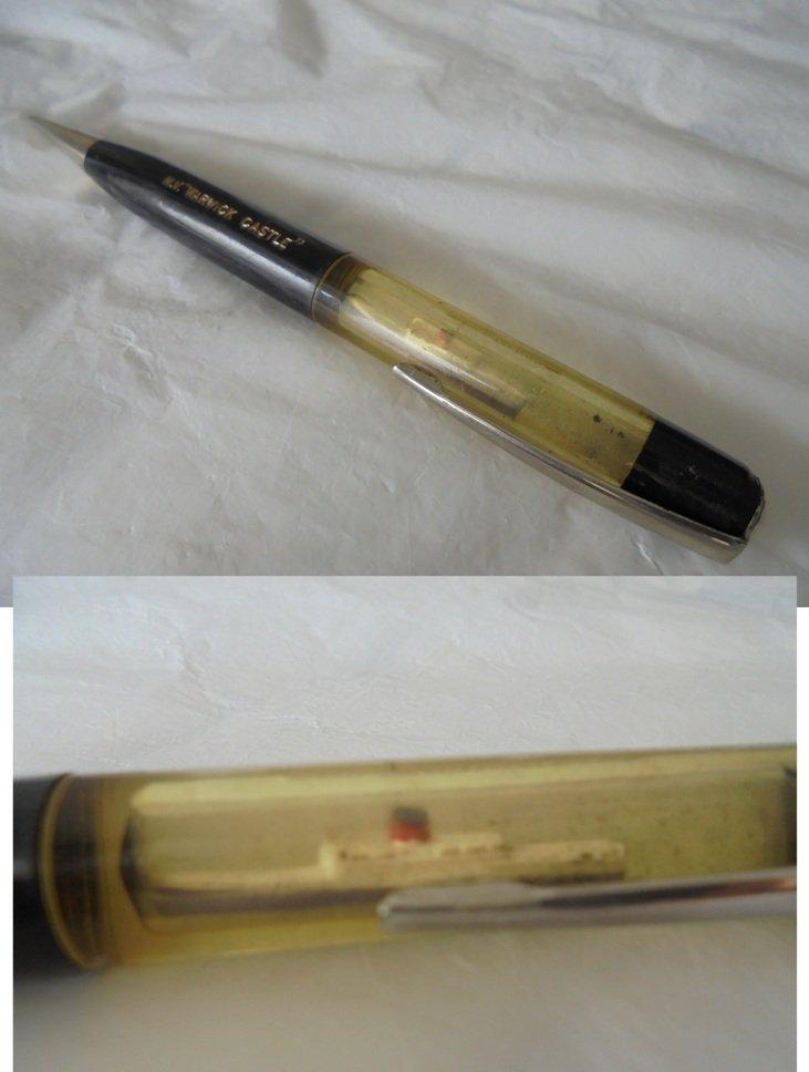Mechanic pencil pen souvenier of the ship WARWICK CASTLE original 1966