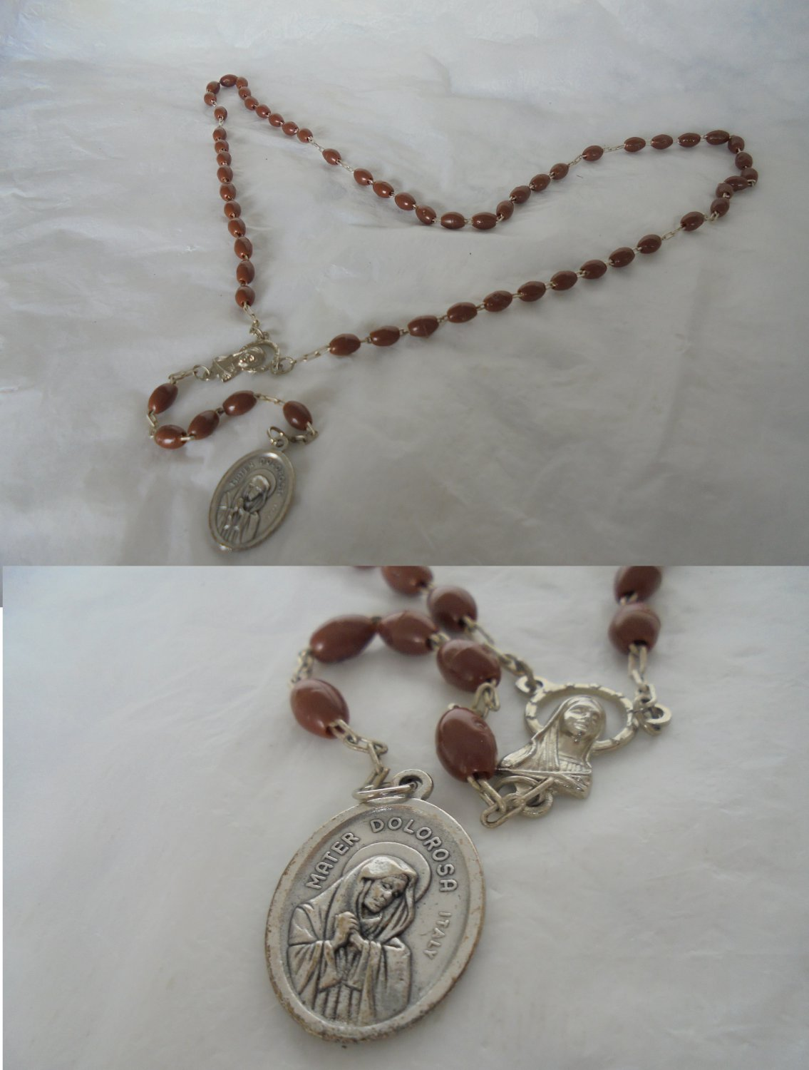 Praying rosary Mater Dolorosa Our Lady of Sorrows Made in USA Original