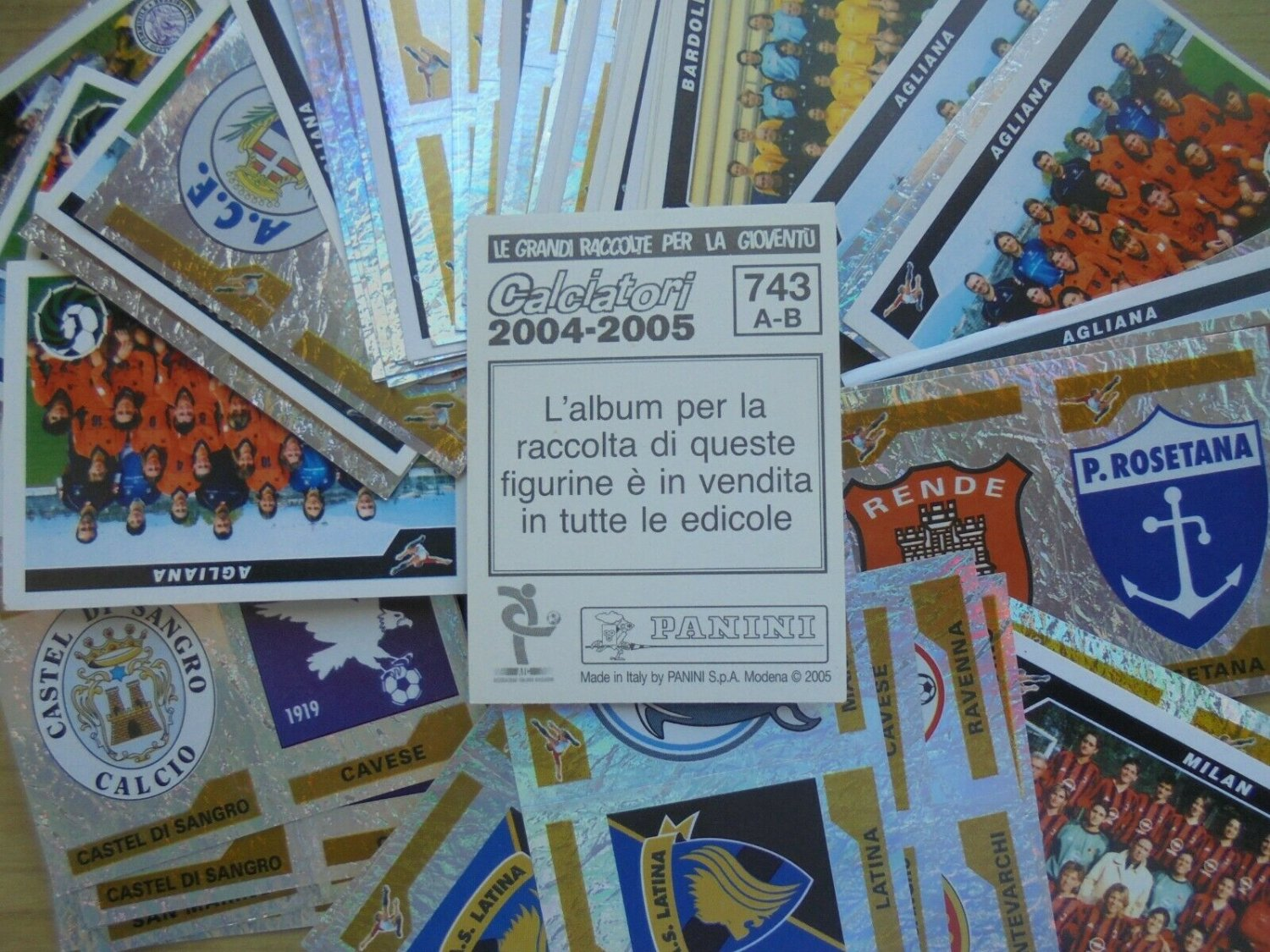 Lotto 400 FIGURINE CALCIATORI PANINI 2004 2005 New stickers pack set All different