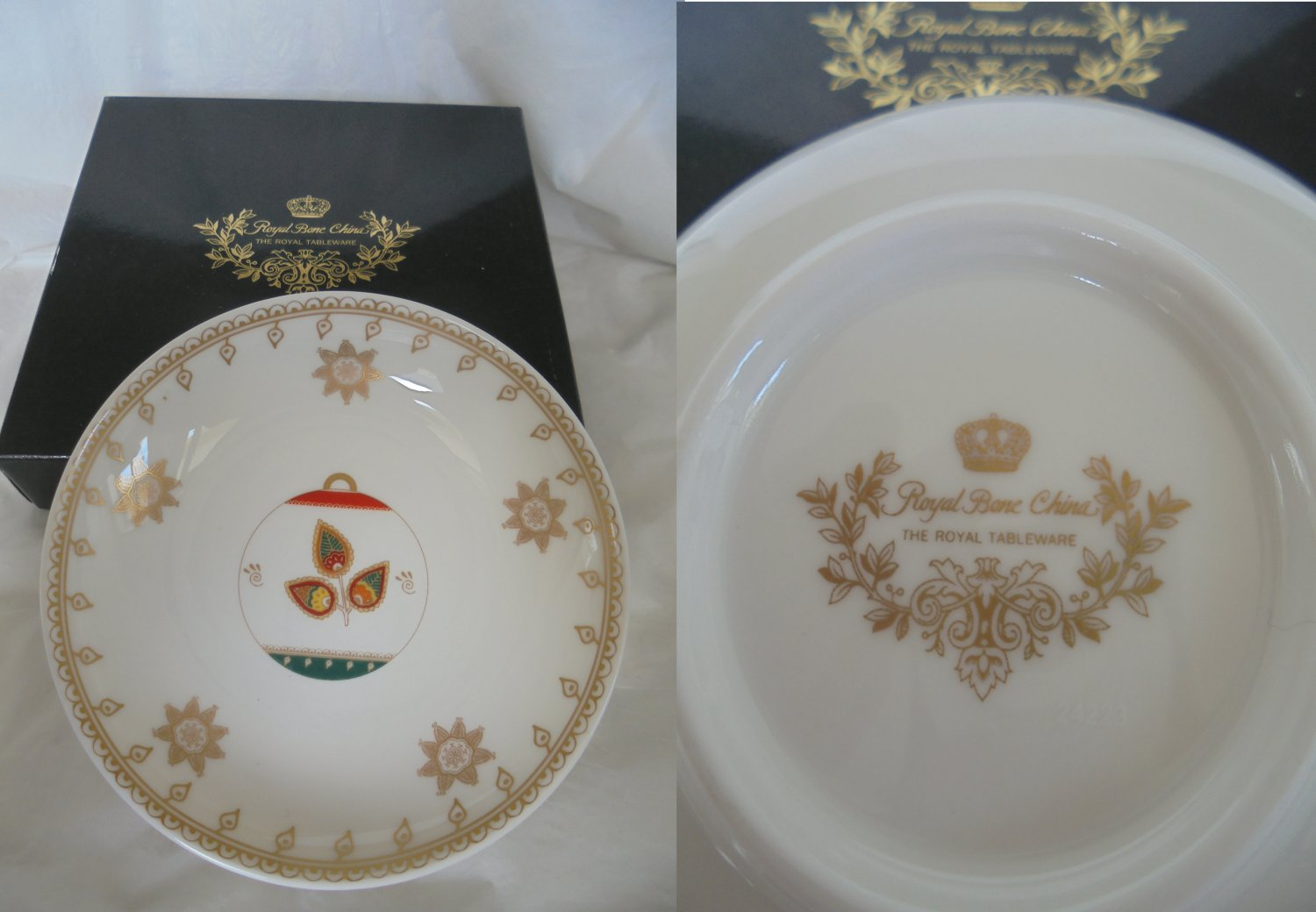ROYAL BONE China BALL Collection plate New in gift box