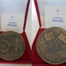 BRONZE MEDAL for the 200th anniversary of the ITALIAN flag Lions Club engraver Gianni Aricò 1997