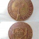 MASONIC BRONZE MEDAL Italian Masonery Grande Oriente d'Italia Napoli 1989