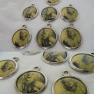 7 CHARMS pendents with the photo picture of MARILYN MONROE Original 1980s