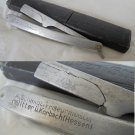 Barber razor knife SCHMIAT SOLINGEN in aluminium 1940s ORIGINAL