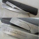 Barber razor knife SCHMIAT SOLINGEN in aluminium 1940s ORIGINAL
