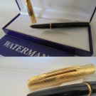 WATERMAN FLASH fountain pen black and Plated GOLD G Original in gift box + Garantee
