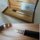 MAGELLANO AURORA fountain pen in sterling silver 925 and gold 14K In box +Garantee