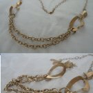 Necklace VERMEIL in STERLING SILVER 925 and gold color Made in Italy