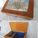 JEWELRY BOX case in wood Original from 1960s Roma Italy souvenier