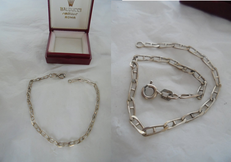BRACELET or ankle bracelet chain in STERLING SILVER 925 Original