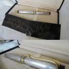 AURORA OPTIMA ball pen in SILVER Sterling 925 and gold plated + Gift box