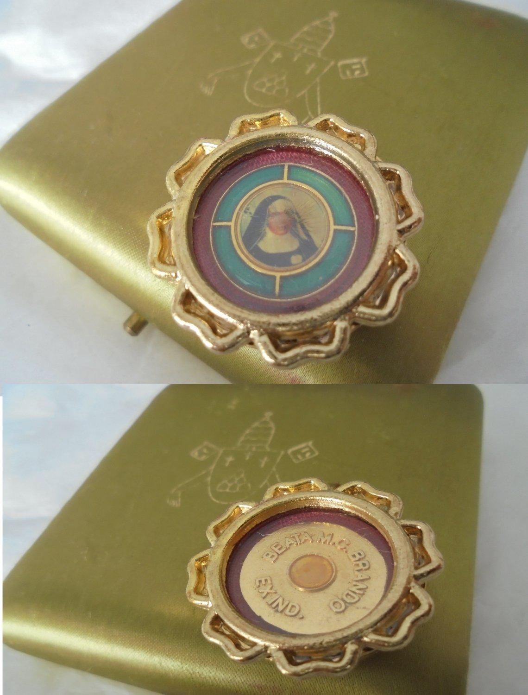 RELIC MEDAL Ex indumentis Blessed Maria Cristina Brando Original Beatification 2003