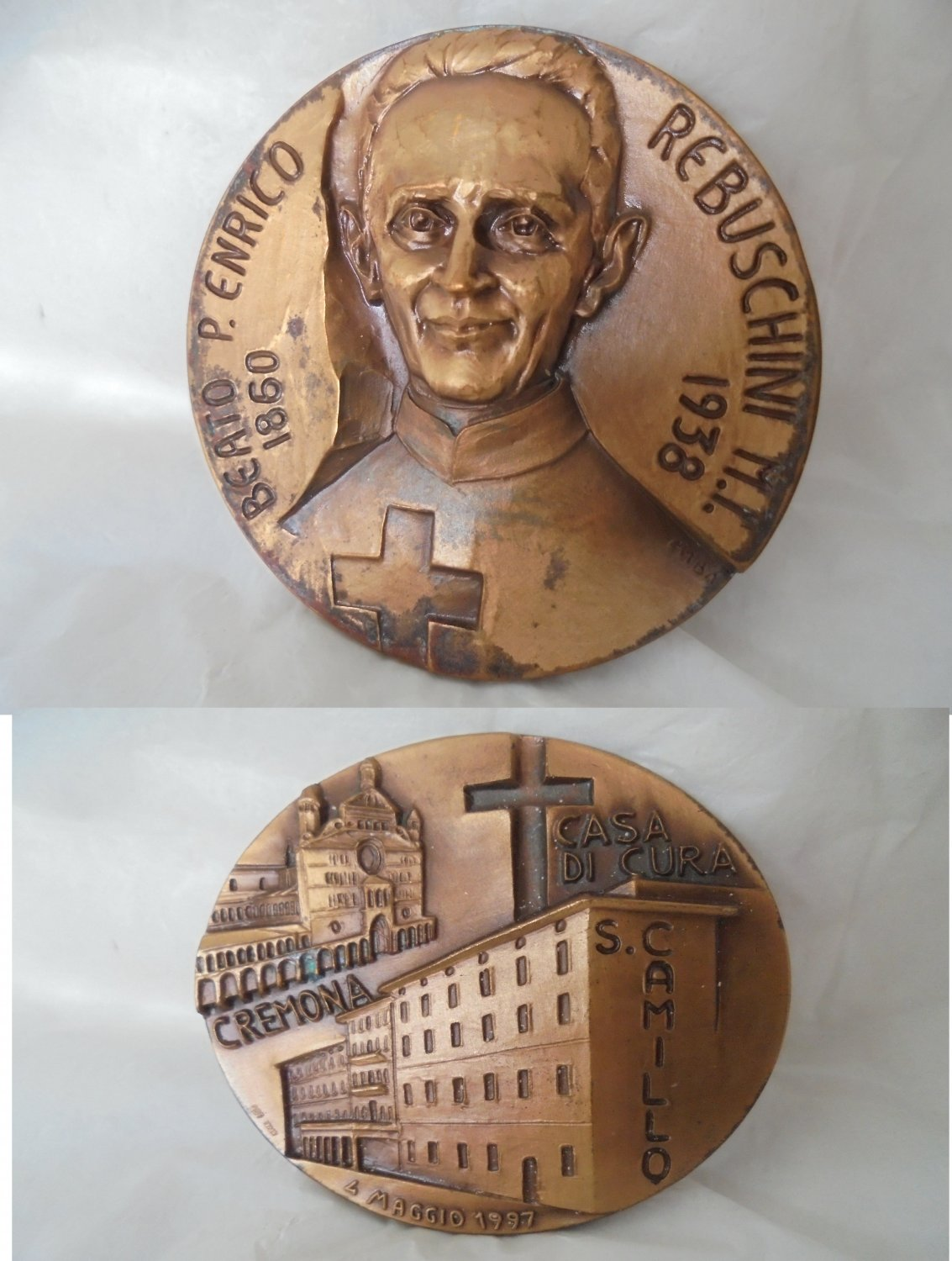 BRONZE MEDAL of Blessed Enrico Rebuschini 1997
