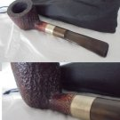 SAVINELLI SILVER 122 Italy pipe in wood and Silver 925 Smoked pipe from 1980s
