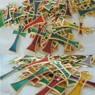 50 CRUCIFIX CROSS in Murano Glass various color Pendent charms Original Italy