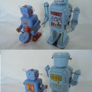 2 ROBOT in tin Models MS 646 and MS 514 wind up toys Made in China 1960s