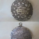 Big pendent charm medal for good luck of the Chinese Horoscope in SILVER 800