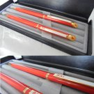 RAI TV Italy SET 2 pens lacque in red color Ball pen + Pencil mechanical pen Original in gift box