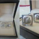 BULGARI CUFFLINKS in Sterling SILVER 925 Original cuff links in gift box