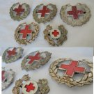 SWISS RED CROSS 5 original pins in metal Switzerland 1950s