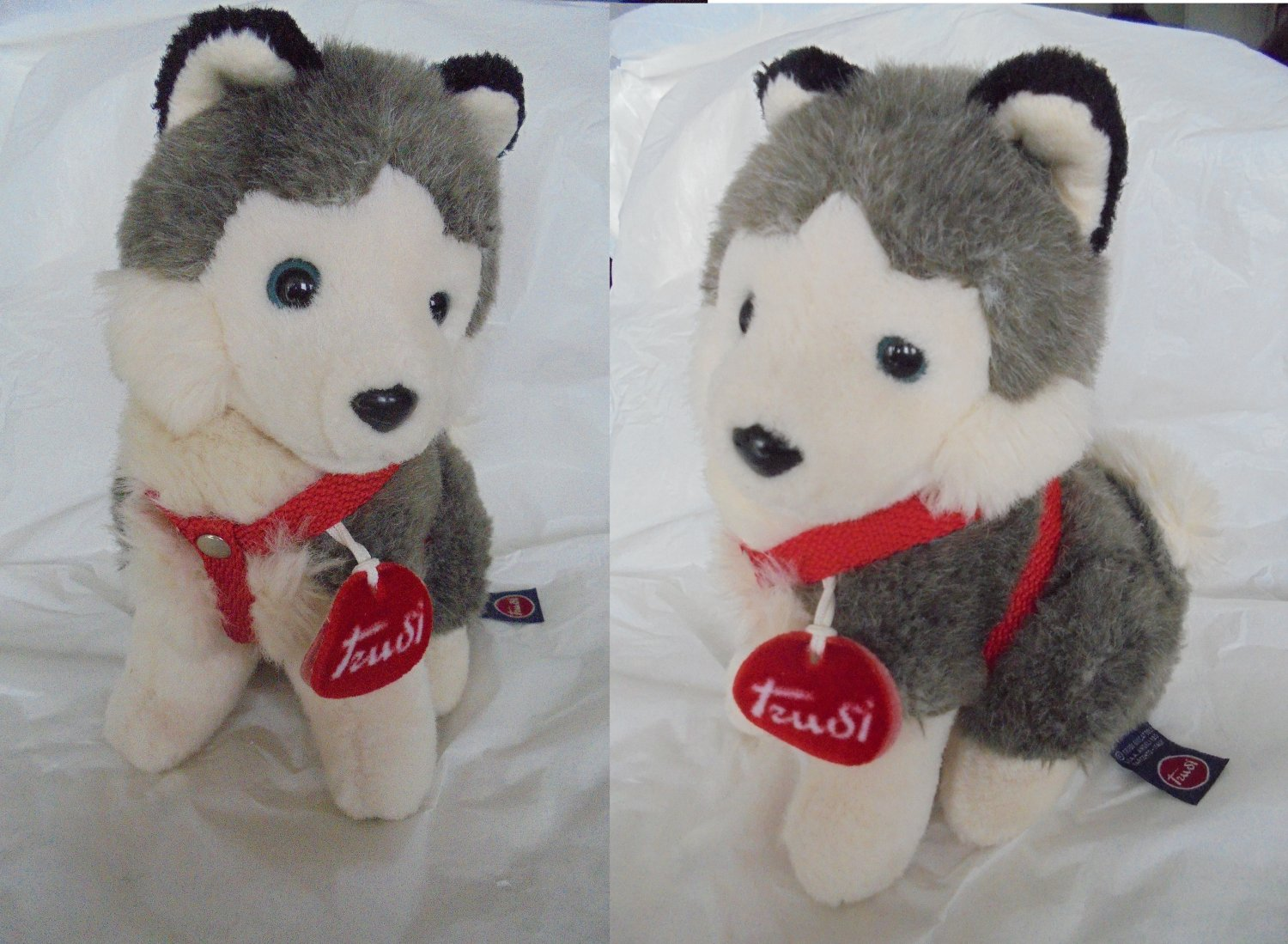 TRUDI Siberian Husky DOG stuffed toy animal peluche Original cm 20