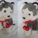 TRUDI Siberian Husky DOG stuffed toy animal peluche Original cm 20