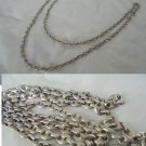 NECKLACE chain in  STERLING SILVER 925 Long cm 62 Made in Italy In gift pochette 1970s